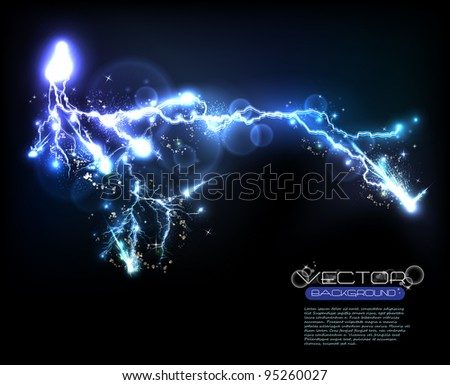 Vector light flash - stock vector