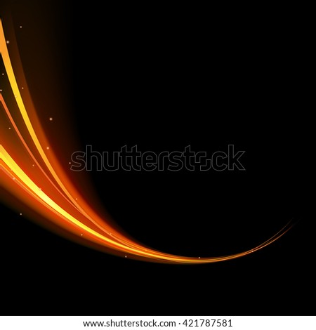 vector light glowing effect on isolated background - stock vector