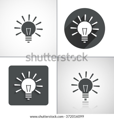 Vector Light lamp sign icon