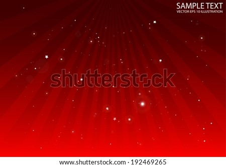 Vector light rays red shiny background template  - Abstract rays spreading background design illustration - stock vector
