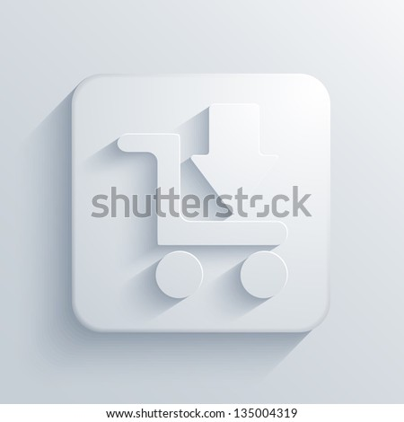 Vector light square icon. Eps10 - stock vector