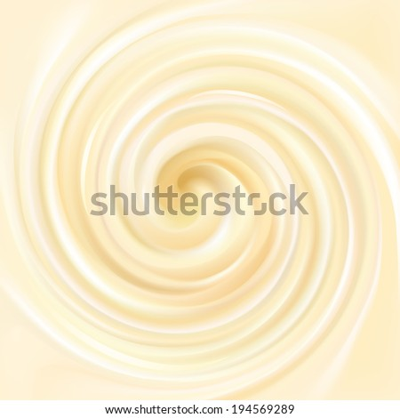 Vector light yellow background of swirling creamy texture  - stock vector