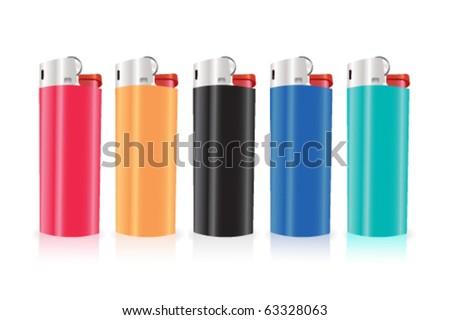 vector lighters - stock vector