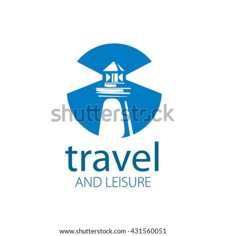 vector lighthouse logo - stock vector