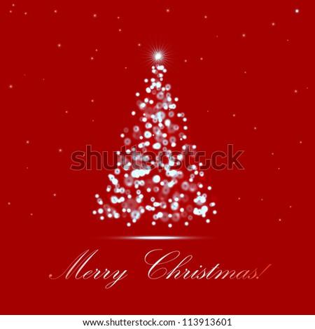 vector lighting Christmas tree - stock vector