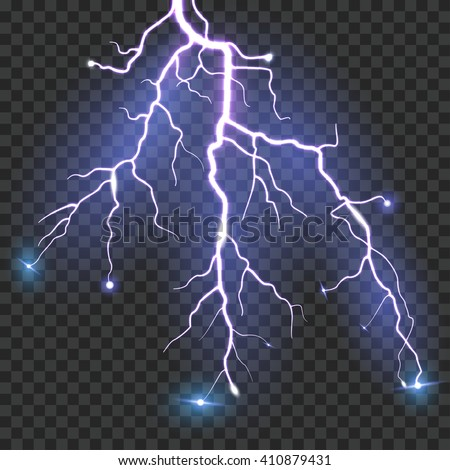 Vector Lightning - stock vector