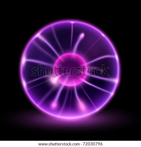 vector lightning sphere - stock vector