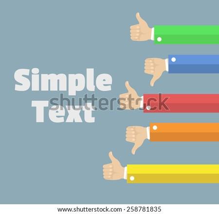 Vector like dislike flat illustration - stock vector