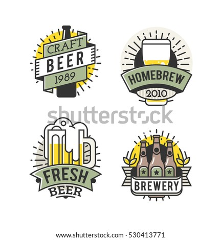 Happy fathers day greeting color overlays stock vector for Craft beer logo design