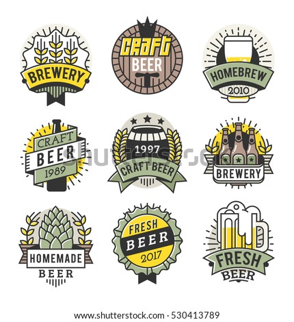 Brew house stock images royalty free images vectors for Craft beer logo design