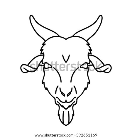 Angry Bull Head Stock Vector 275972102 - Shutterstock Goat Face Side Drawing