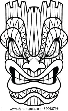 Tiki Mask Stock Images Royalty Free Images Vectors Shutterstock