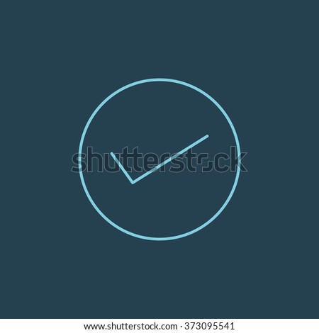 Vector Line Icon Of Checked. Eps-10. - stock vector