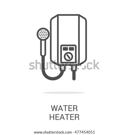 Vector Line Icon Water Heater Web Stock Vector 477454051 - Shutterstock