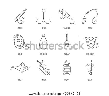 vector illustration fishing rod other fishing stock vector, Fishing Reels