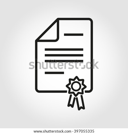 Vector line patent icon. Patent Icon Object, Patent Icon Picture, Patent Icon Image - stock vector - stock vector