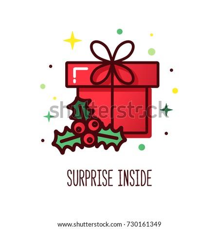 Vector line icons christmas gift box 734834455 vector line style christmas gift box cute illustration of gift box present greeting negle Choice Image