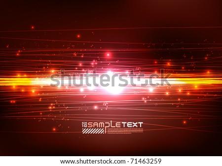 Vector Lines Art Glowing in the Dark - stock vector
