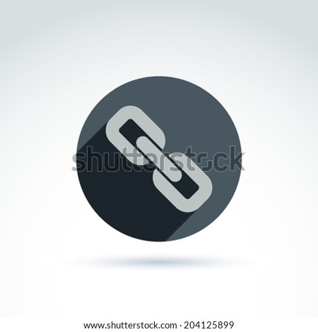 Vector link symbol, connection icon. Merge sign placed in a circle. - stock vector