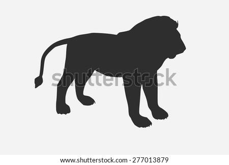 Vector lion silhouette - stock vector
