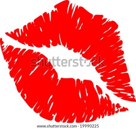 Vector Lipstick Print - stock vector