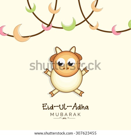 Vector llustration festival of Eid-Ul_Adha. - stock vector