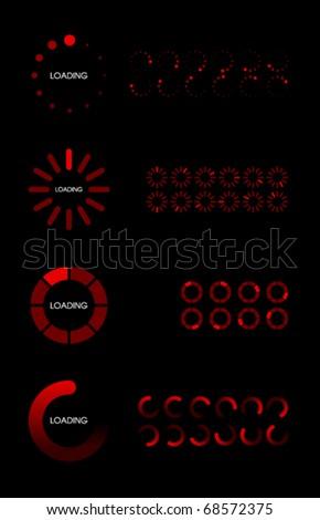 Vector Loader Bars - stock vector