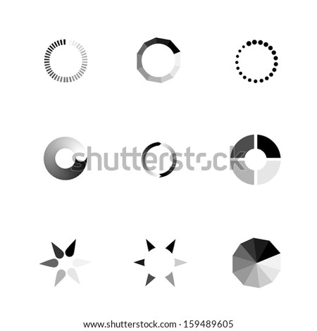 Vector Loading Icon. - stock vector