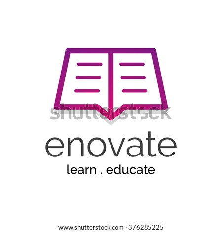 Vector Logo Concept for education academy business corporate branding - stock vector