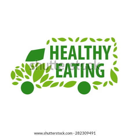vector logo delivery of healthy eating - stock vector