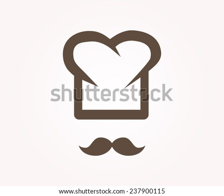Vector logo design element. Chef, restaurant, cook - stock vector