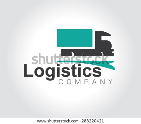 Vector logo design element business card stock vector 288220421 vector logo design element with business card template on white background truck freight reheart Gallery