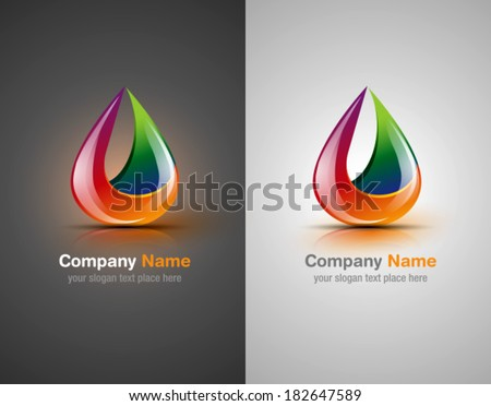 Vector logo design elements. Abstract shapes. Corporate identity elements. Color icons - stock vector