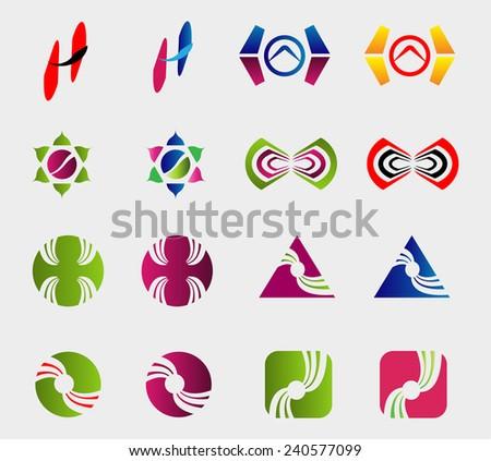 Vector logo design elements Pack  - stock vector