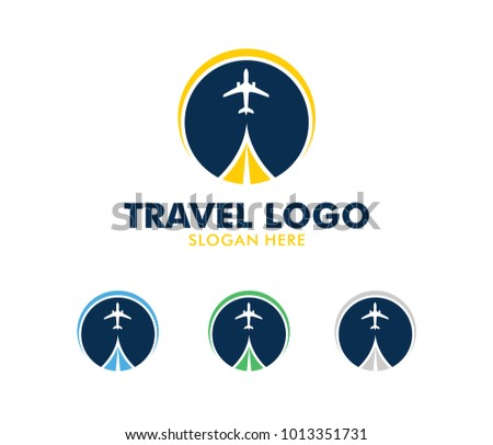 Vector Logo Design Illustration For Tour And Travel Agency Trip Advisor Aviation Company