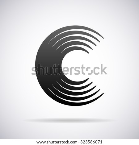 logo letter c design template stock vector 286943564 shutterstock. Black Bedroom Furniture Sets. Home Design Ideas