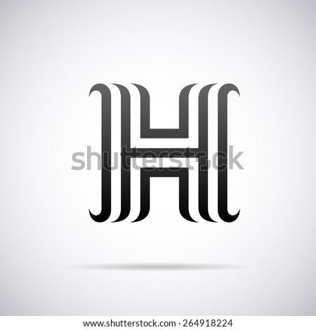 Vector logo letter h design template stock vector 264918224 vector logo for letter h design template pronofoot35fo Gallery