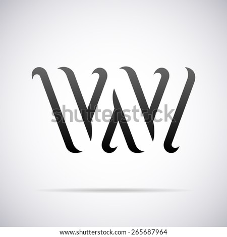 letter w template