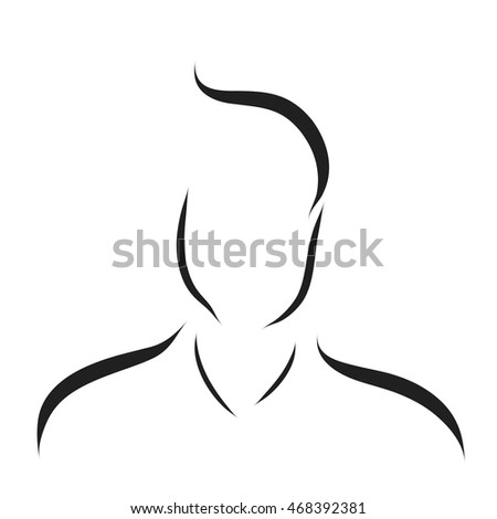 Vector logo man on a white background.