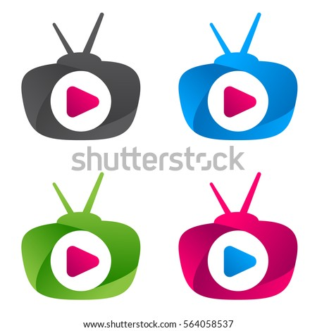 Vector Logo Media Tv News Template Stock Photo (Photo, Vector ...