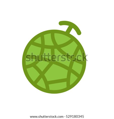 vector logo melon for farm