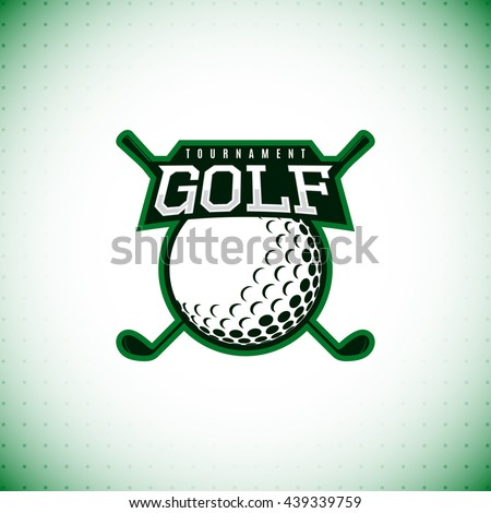 Vector logo of golf tournament. Symbol of golf championship. Vector illustration. - stock vector