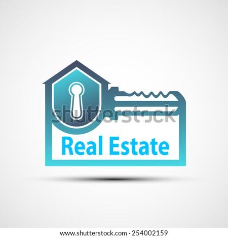 Vector logo of the real estate - stock vector