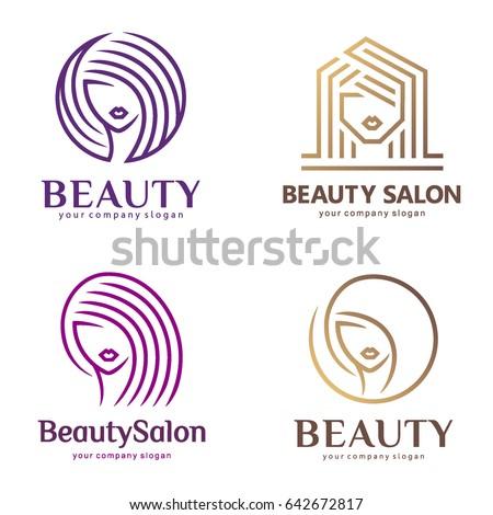 Vector logo set beauty salon hair stock vector 642672817 shutterstock vector logo set for beauty salon hair salon cosmetic thecheapjerseys Gallery