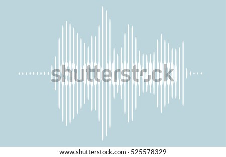 Vector logo - sound wave.