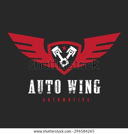 Vector Logo SymbolAutomotive Wing   - stock vector