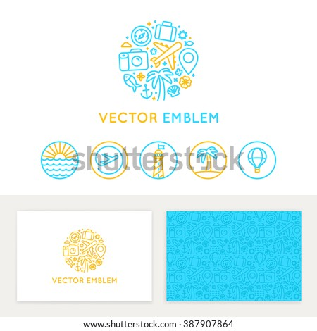 Vector Logo Template Business Card Design Stock Vektorgrafik