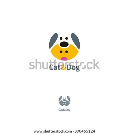 Vector Logo Template Cat Dog Stock Vector (Royalty Free) 390465124 ...