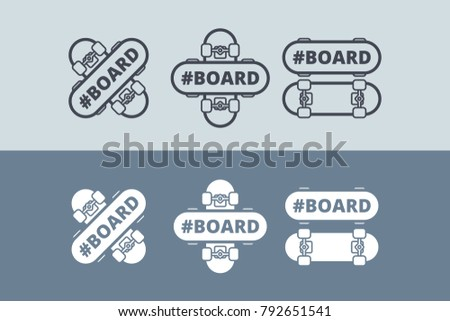 vector logo with skateboard