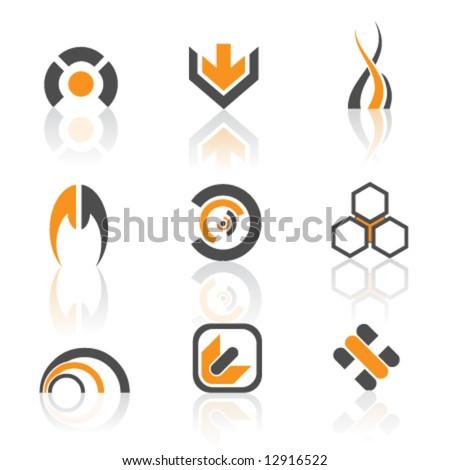 vector logos- colorful version - stock vector